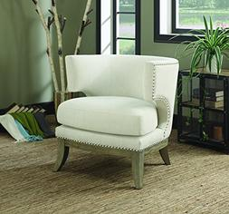 Coaster Home Furnishings 902559 Accent Chair, NULL, White