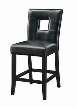"""Coaster 24""""H Counter Height Stool, Black"""