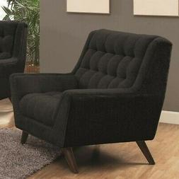 Coaster Home Furnishings Casual Chair, Black/Black