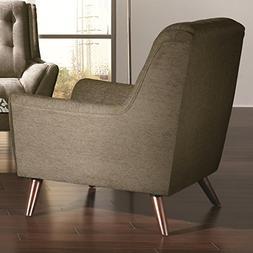 Coaster Home Furnishings Casual Chair, Grey/Grey