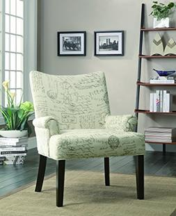 Coaster Home Furnishings French Script Pattern Accent Chair