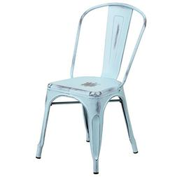 Flash Furniture Distressed Green-Blue Metal Indoor-Outdoor S