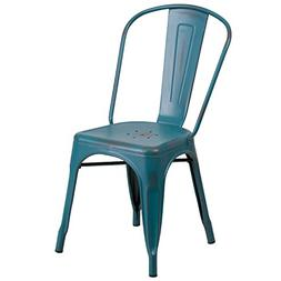 Flash Furniture Distressed Kelly Blue-Teal Metal Indoor-Outd