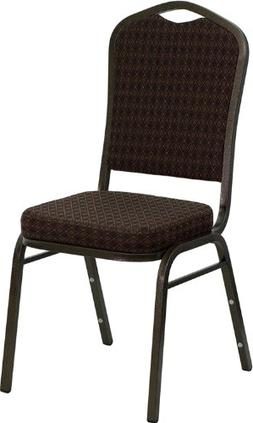 HERCULES Series Crown Back Stacking Banquet Chair with Black