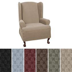 MAYTEX Pixel Ultra Soft Stretch 1 Piece Wing Back Arm Chair