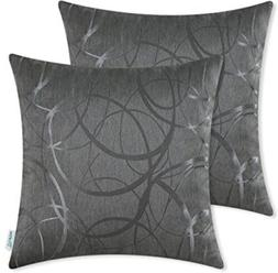 Pack Of 2 CaliTime Throw Pillow Covers 20 X 20 Inches Revers