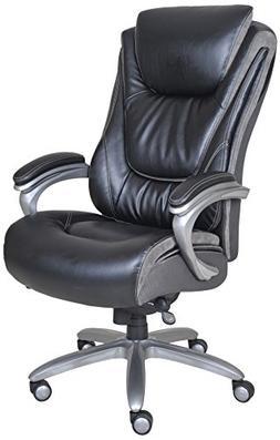 Serta - Big & Tall Smart Layers Leather Executive Chair - Bl
