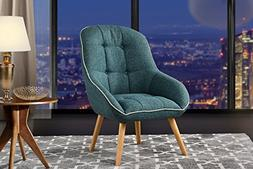 Accent Chair for Living Room, Upholstered Linen Chairs with
