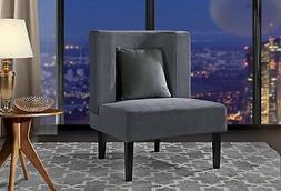 Accent Chair for Living Room, Upholstered Armless Velvet Cha