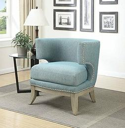Coaster Home Furnishings Accent Chair, Null, Blue 902558 NEW