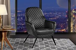 Accent Chair for Living Room, Faux Leather Arm Chair with Di