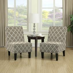 Accent Chairs For Living Room Set Of 2 Armless Tan Club