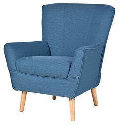 Accent Leisure Arm Chair Upholstered Single Sofa Wood Legs L