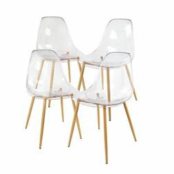Acrylic Dining Side Chair Transparent Clear Seat with Strong