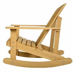 Giantex Adirondack Chair Outdoor Natural Fir Wood Rocking Ch