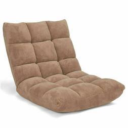 Adjustable 14-Position Floor Chair Folding Lazy Gaming Sofa