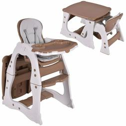 Adjustable Baby High Feed Chair 3in1 Convertible Play Table