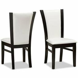 Baxton Studio Adley Faux Leather Dining Side Chair in White