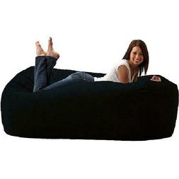 Adult Bean Bag Chair Media Lounger Bed Fuf Foam Filled Soft