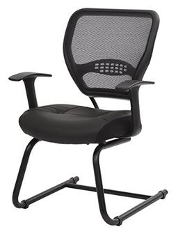 Professional Air Grid Back Visitors Chair With Eco Leather S