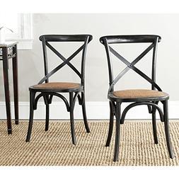 American Home Franklin X Back Chair - Black - Set Of 2 - Woo