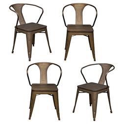 AmeriHome Arm Chair , Rustic Gunmetal
