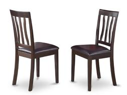 East West Furniture ANC-CAP-LC Dining Chair Set with Faux Le