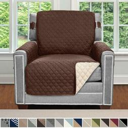 Armchair Recliner Cover Protector with Pockets for Leather C