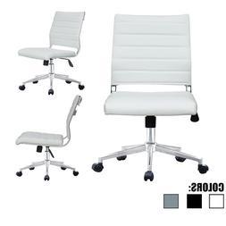 armless office chair height and tilt adjustable