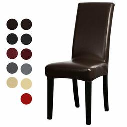 Artificial PU Fabric Leather Shorty Dining Chair Covers for