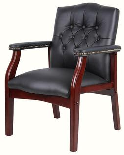 Boss Office Products B959-BK Ivy League Executive Guest Chai