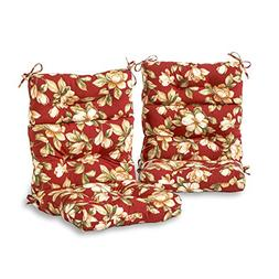 Greendale Home Fashions Outdoor High Back Chair Cushions, Se