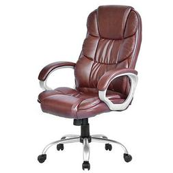 BestOffice Executive Chair - Leather Brown Seat - Leather Br