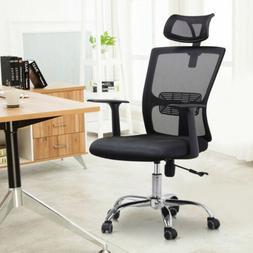 High Back Mesh Office Chair Adjustable Ergonomic Swivel Comp