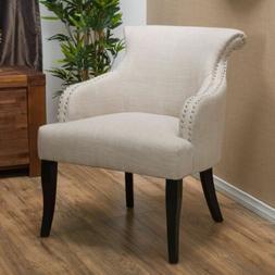 Baldwin Light Beige Fabric Accent Chair