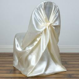 BalsaCircle Universal Satin Chair Covers Slipcovers for Part