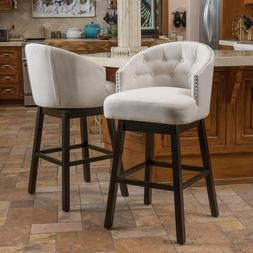 Bar Stool Set of 2 Beige Christopher Knight Ogden Chairs Fab