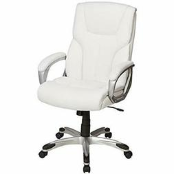 Basics High-Back Home Office Desk Chairs Executive Swivel Wh