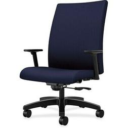 "HON Big/Tall Task Chair Mid-back 32-1/4""x28""x43-1/8"" Navy IW"