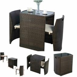 Bistro Table And Chairs Set Patio Outdoor Indoor Bar Dining