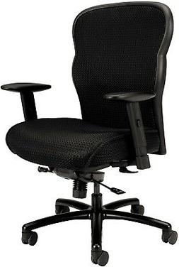 Black basyx VL705 Series Big and Tall Mesh Chair Five-Star B
