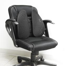Black Ergonomic Adjustable Cushion Pad Back Lumbar Support F