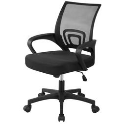 Black Executive Ergonomic Mesh Computer Office Desk Task Mid