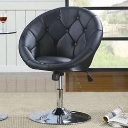 Black Vanity Stool Swivel Chair Seat Bedroom Furniture Livin