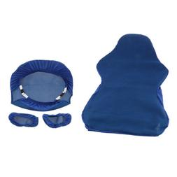 Blue Computer Stretch Swivel Gaming Chair Slipcover Executiv