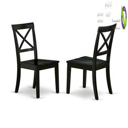 East West Furniture Boc-Blk-W Boston Formal Dining Chair Woo