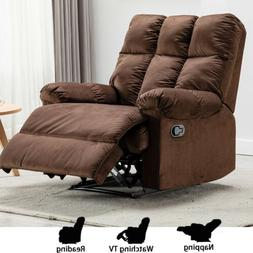 Soft Breathable Leather Recliner Traditional Manual Chair So