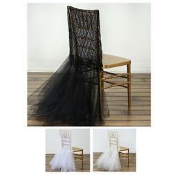 Bridal Wedding Party Lace And Tulle Tutu Chair Covers Dinnin