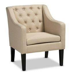 Baxton Studio Brittany Beige Upholstered Club Chair