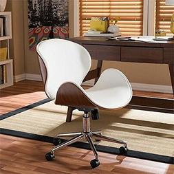 Baxton Studio  Bruce Modern&Contemporary White&Walnut Office